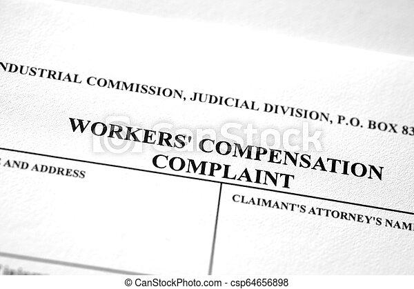worker's, ouvriers, plainte, formulaire, compensation - csp64656898