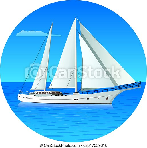 yacht, luxe, voile - csp47559818