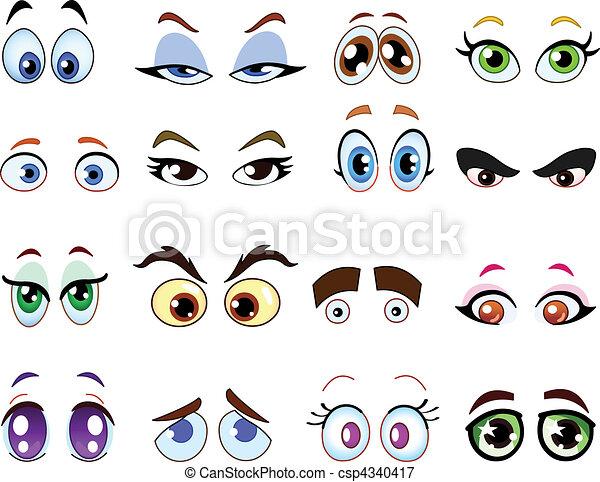 yeux, dessin animé - csp4340417